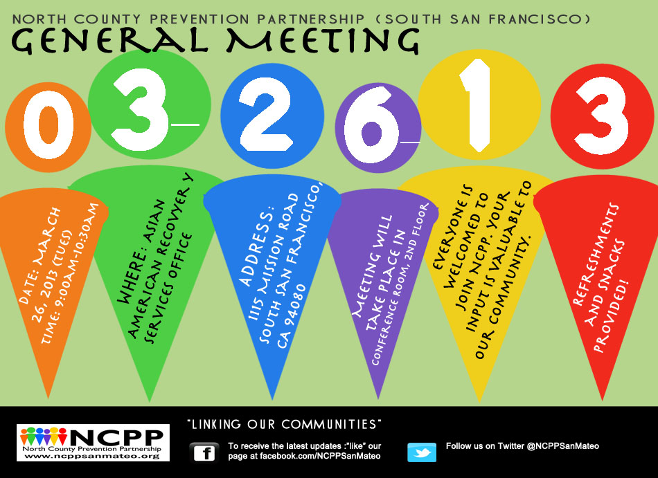 NCPP General Meeting Flyer 03.26.13
