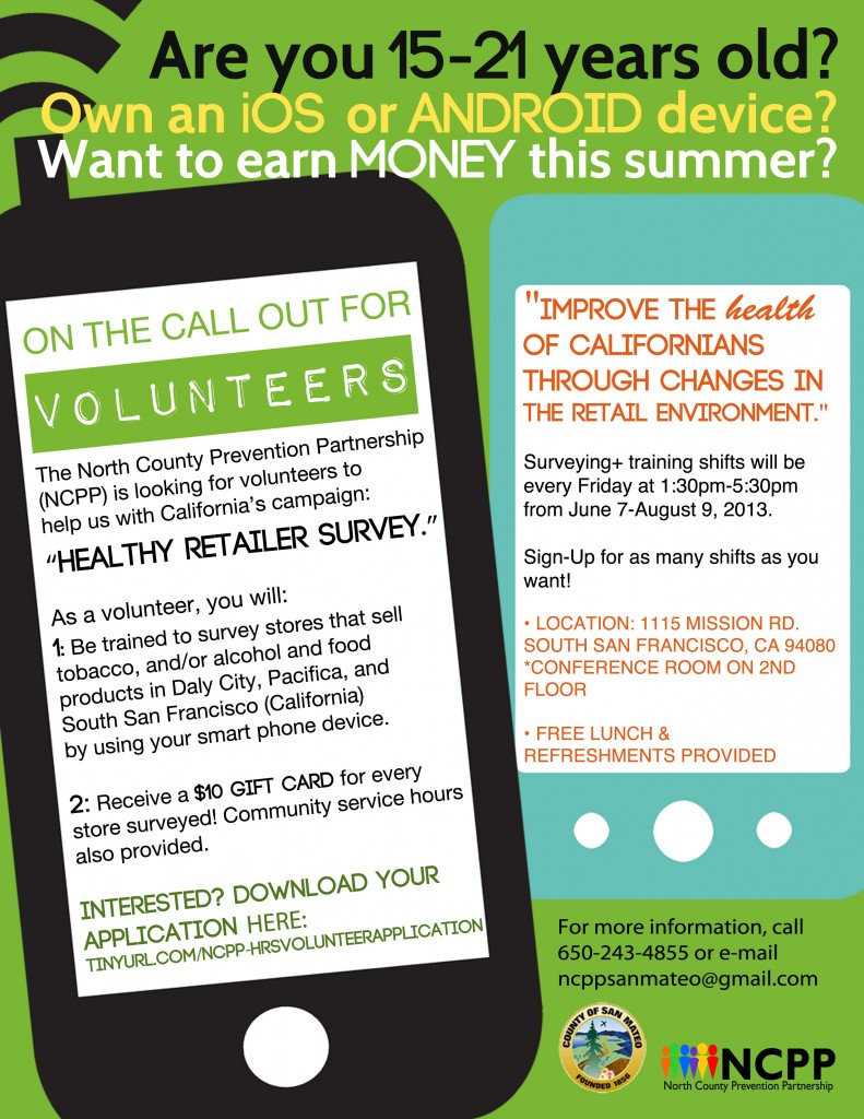 NCPP Healthy Retailer Survey Volunteers Needed