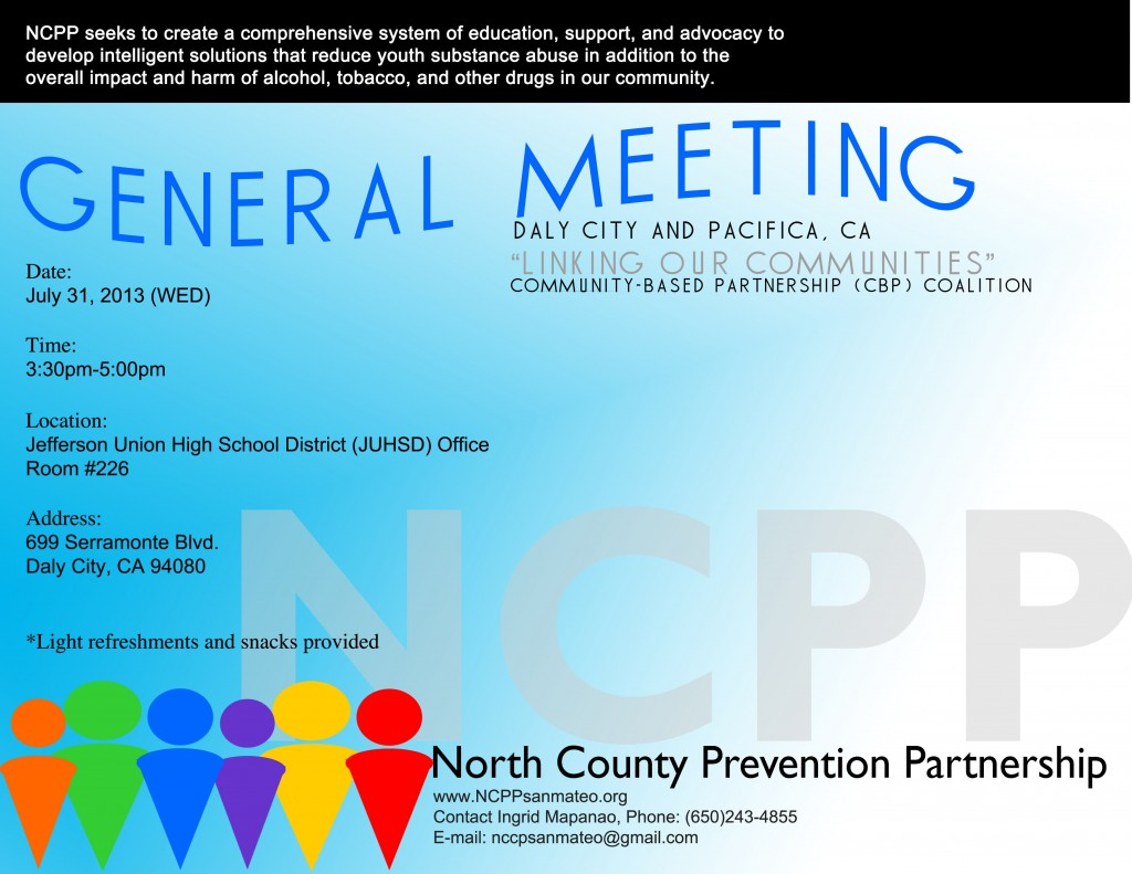 July 31 2013 NCPP CBP General Mtg