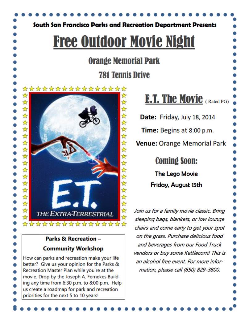 SSF Movie Night Flyer 7-18-14