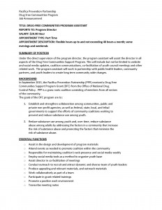 Pacifica Partnership Program Assistant Job Announcement_Page_1
