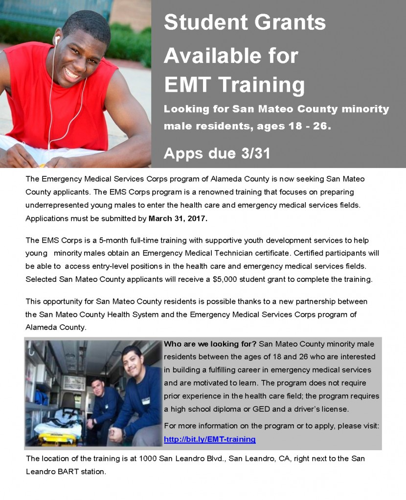 EMT Training Flyer